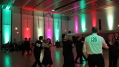This image demonstrates competitive and social ballroom dancing both benefit from the skillful use of event lighting. Photo by Artistic Illumination.